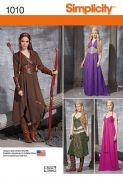 1010 Simplicity Pattern: Misses' Fantasy Costumes